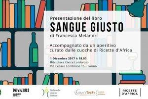 "F.Melandri presenta ""Sangue giusto"" presso Biblioteca Lombroso"