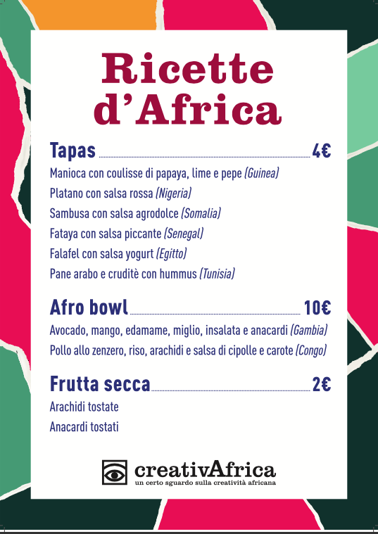 CreativAfrica still on travel #2 presso Bunker menu