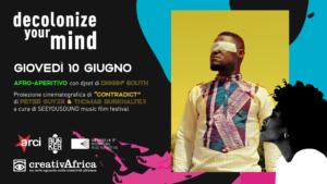 Afro-aperitivo // djset a cura di Damonji aka Diggin' South // proiezione film musicale CONTRADICT